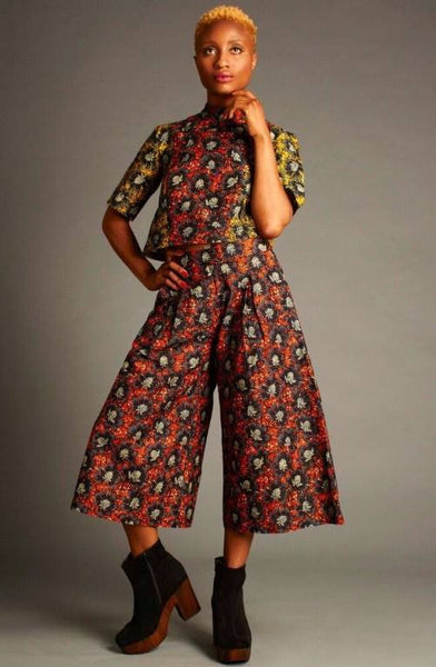 Mafrika High Waisted Printed Culottes