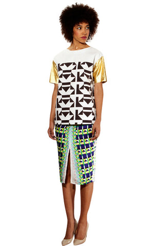 South African Fashion, Sindiso Khumalo, South African fashion designer, graphic print tee, south african