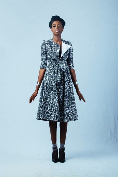 Ameyo Monochrome Printed Coat