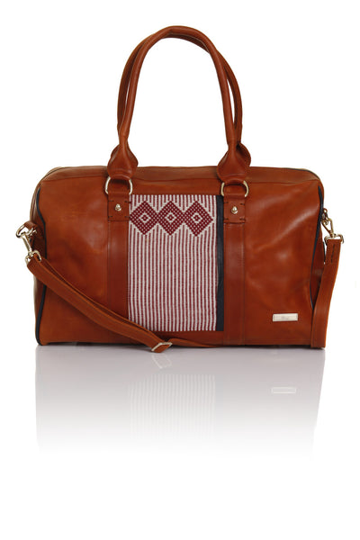 ZAAF Avalo Petite Leather Weekender Bag