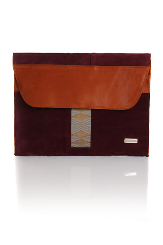ZAAF Millettia Large Leather Portfolio Clutch