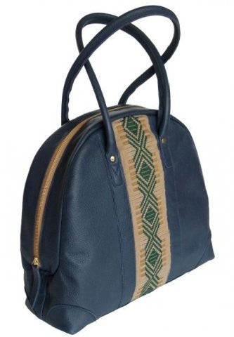 ZAAF Blue Spruce Leather Shoulder Bag