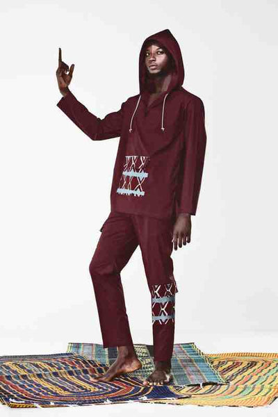 Awale Burgundy Trousers
