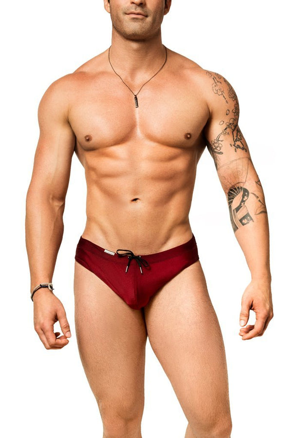 red mens swimwear / swim brief