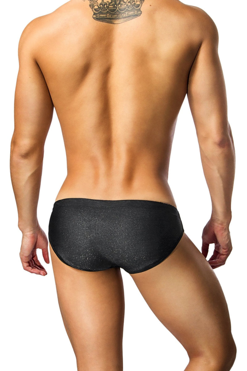 black mens swimwear / swim brief