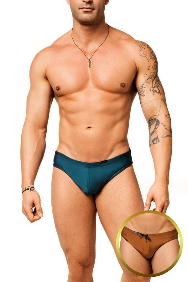 Fiji Bronze Reversible Swim Brief - Jimaye