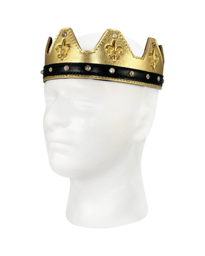 Gold Leather Crown - Jimaye