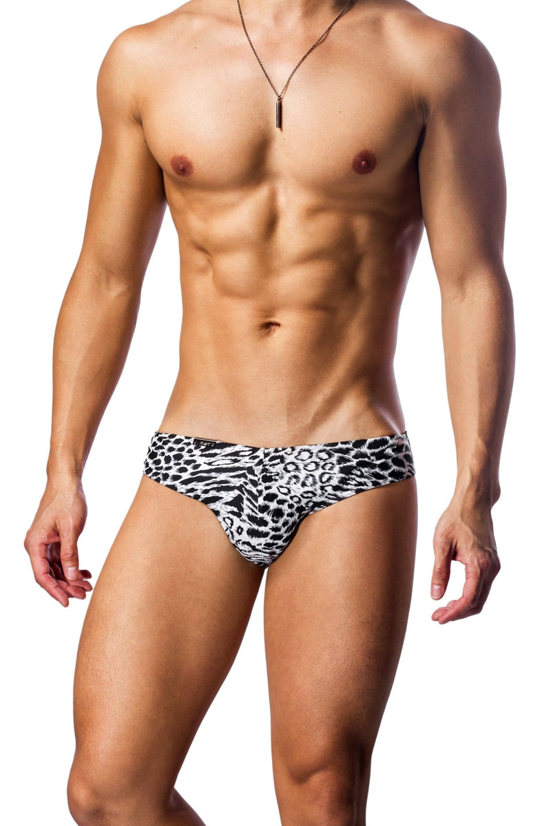 snow leopard mens swimwear / swim brief