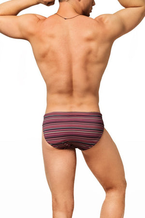 red stripes mens swimwear / swim brief