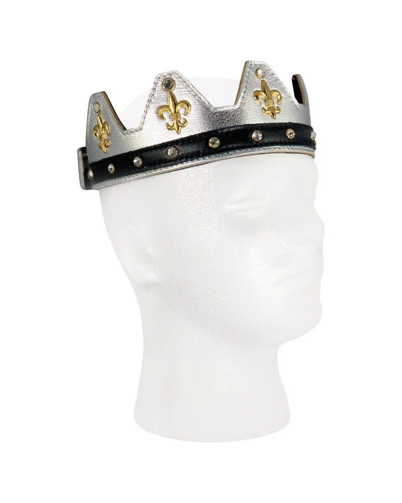 Silver Leather Crown - Jimaye
