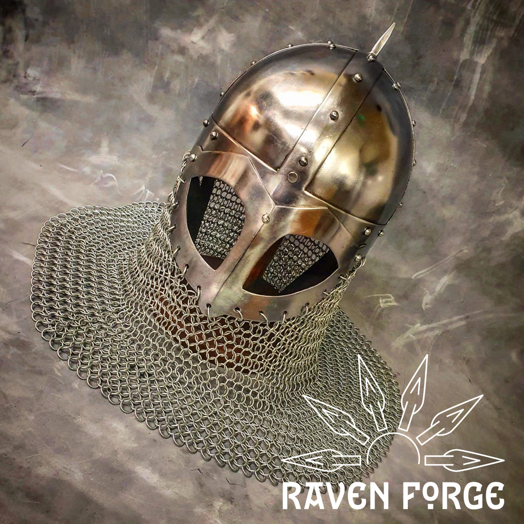 Viking Spectacle Helmet with Aventail