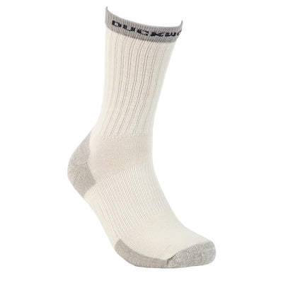 Duckworth Merino Wool - Midweight Hiking Crew Sock - Natural