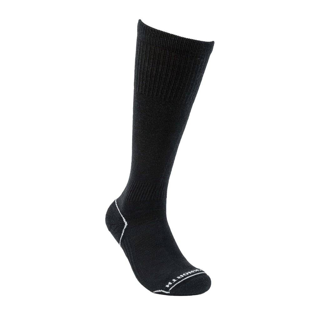 Duckworth Merino Wool - Lightweight Ski Sock - Black