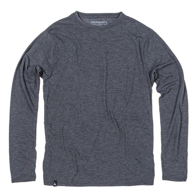Duckworth Merino Wool - Men's Vapor LS Crew - Charcoal