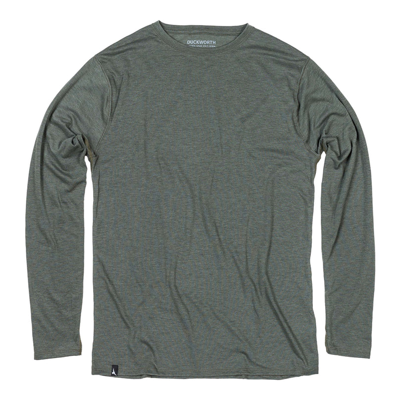 Duckworth Merino Wool - Men's Vapor LS Crew - Standard Gray