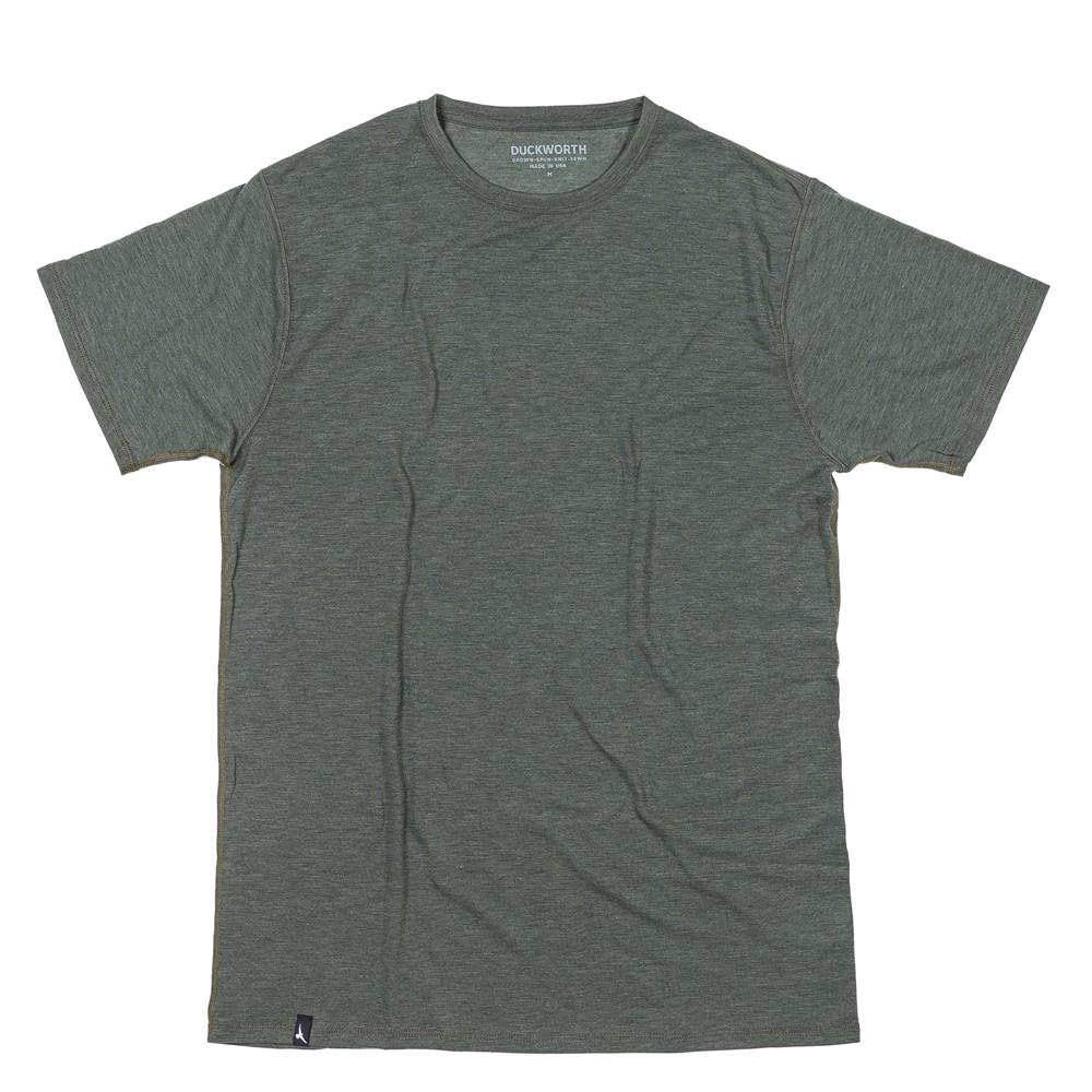 The Duckworth Vapor Tee - a mens Merino wool T-shirt in color Spruce