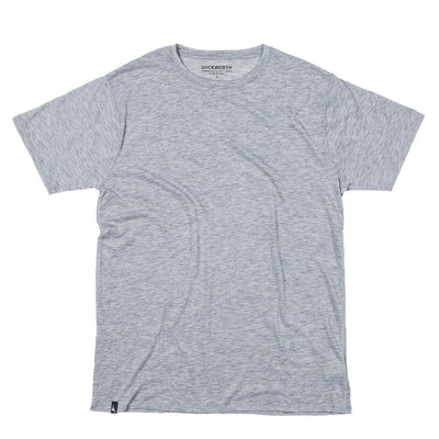 The Duckworth Vapor Tee - a mens Merino wool T-shirt in color Standard Gray.