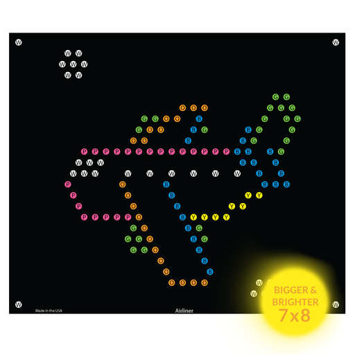 Lite Brite Refills - Airplane Refill Sheets for Ultimate Classic Light Bright