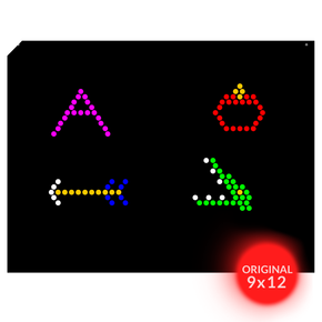 Original 9x12 Lite Brite Design Refill: Letters (RECTANGLE - 26 sheets)