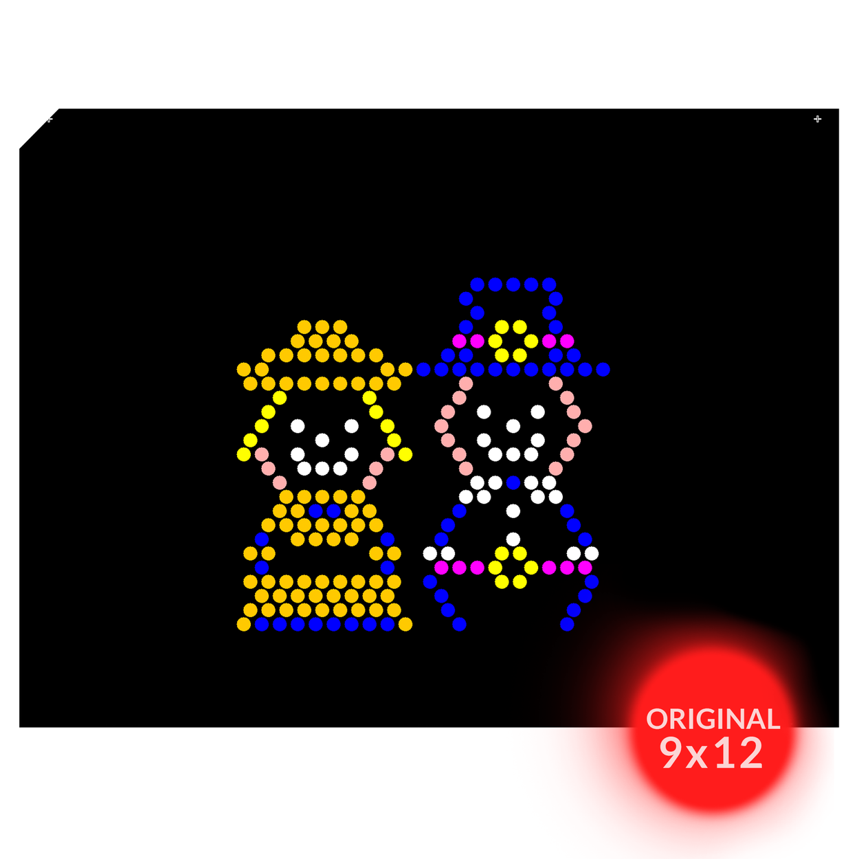 Original 9x12 Lite Brite Design Refill: Holiday (RECTANGLE)