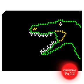 Original 9x12 Lite Brite Design Refill: Dinosaurs (RECTANGLE)