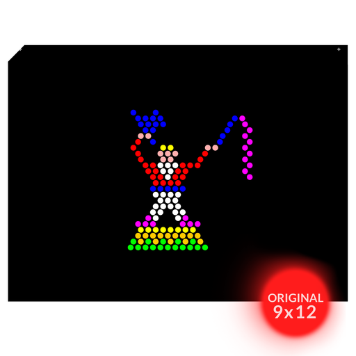 Original 9x12 Lite Brite Design Refill: Circus (RECTANGLE)