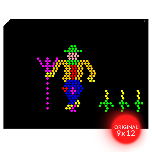 Original 9x12 Lite Brite Design Refill: The Farm (RECTANGLE)