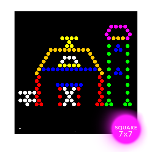 photograph about Lite Brite Free Printable Patterns called Lite Brite Sq. Refills for Lite Brite Dice LED Flat