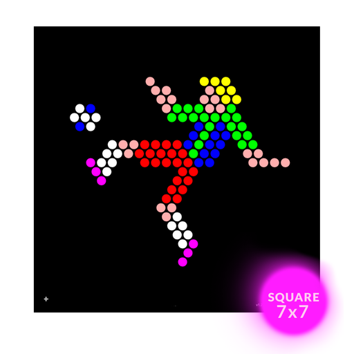 Square Lite Brite Design Refills: Sports