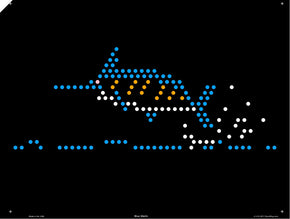 Original 9x12 Lite Brite Design Refill: Under The Sea (RECTANGLE)