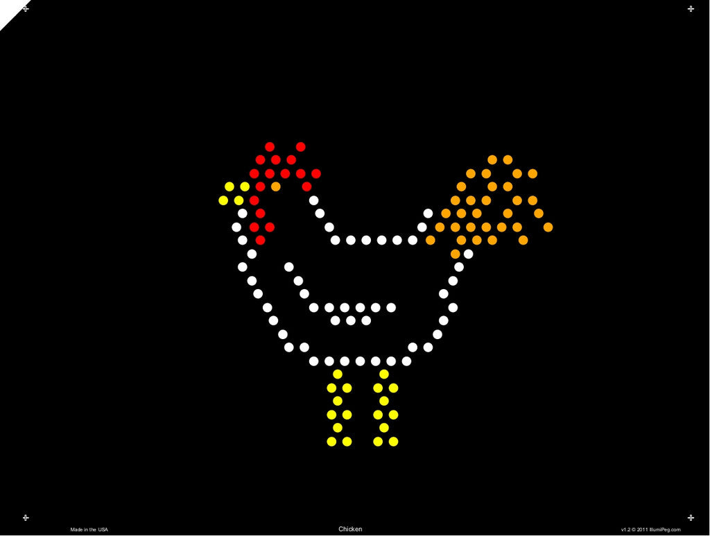 Classic 9x12 Lite Brite Design Refill: The Farm (RECTANGLE)