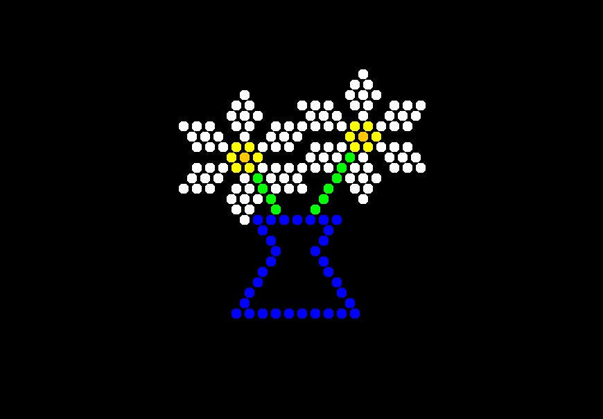 Classic 9x12 Lite Brite Design Refill: Little Miss (RECTANGLE)