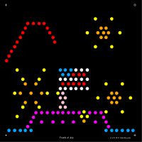 Square Lite Brite Design Refills: Holiday