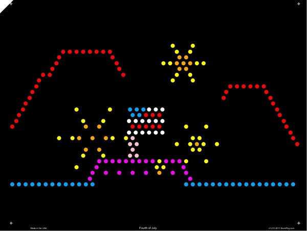 Fourth of July Lite Brite Refill Sheet