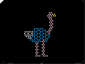 Original 9x12 Lite Brite Design Refill: The Zoo (RECTANGLE)
