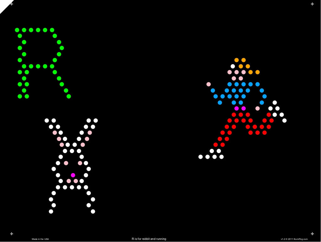 picture regarding Printable Lite Brite Patterns identified as First 9x12 Lite Brite Style and design Refill: Letters (RECTANGLE - 26 sheets)
