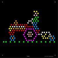 photo about Printable Lite Brite Patterns named Sq. Lite Brite Style Refills: Farm