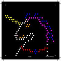 Square Lite Brite Design Refills: Little Miss