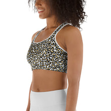 Load image into Gallery viewer, Gold Leopard Women's Sports Bra