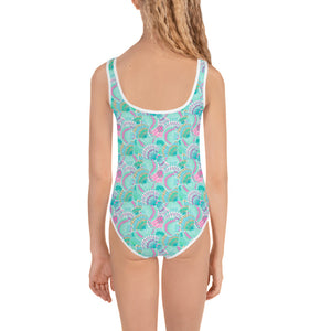 Teal Shells Kid's Swimsuit