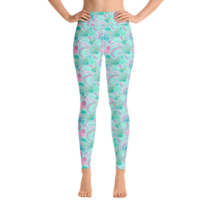 Teal Shells Women's Leggings