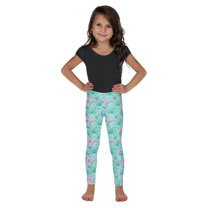Teal Shells Kid's Leggings