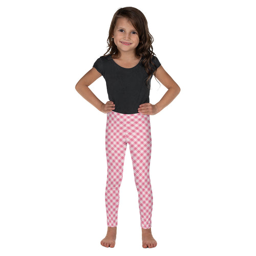 Gingham Pink Kid's Leggings