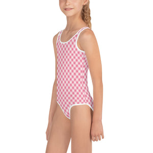 Gingham Pink Kid's Swimsuit