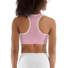 Load image into Gallery viewer, Gingham Pink Women's Sports Bra