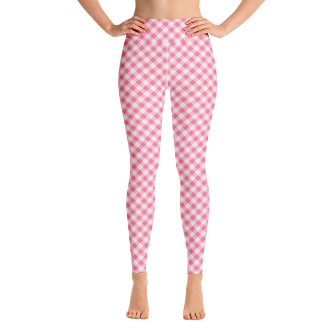 Gingham Pink Women's Leggings