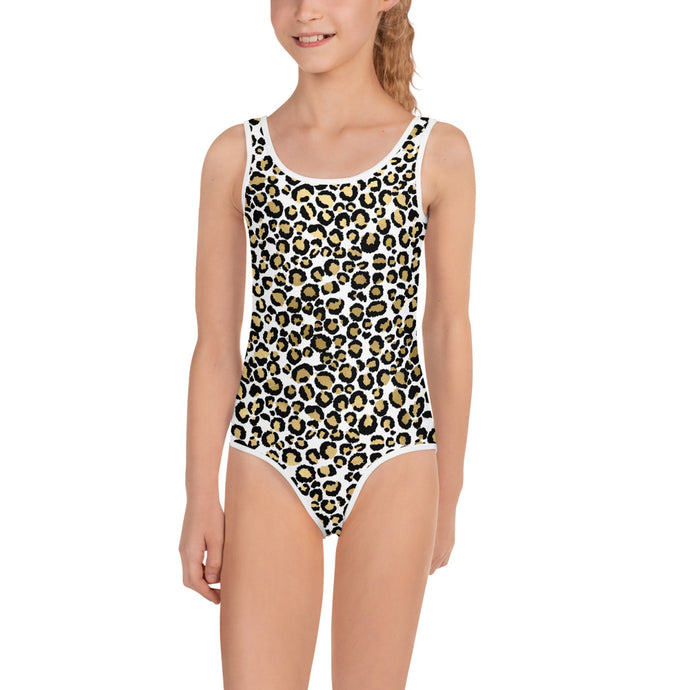 Gold Leopard Kid's Swimsuit