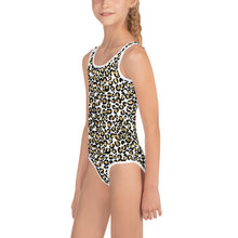 Load image into Gallery viewer, Gold Leopard Kid's Swimsuit