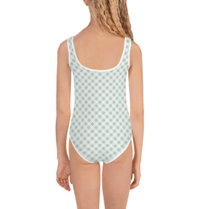 Gingham Green Kid's Swimsuit