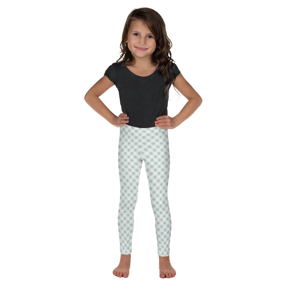Gingham Green Kid's Leggings